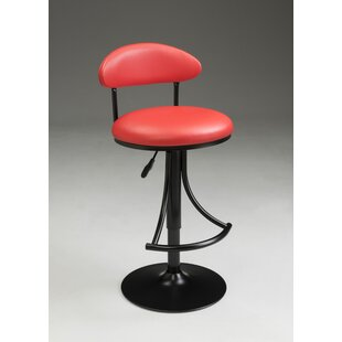 Eda Adjustable Barstool Red Barrel Studio