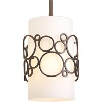 Latitude Run Soshana 1-Light Cylinder Pendant