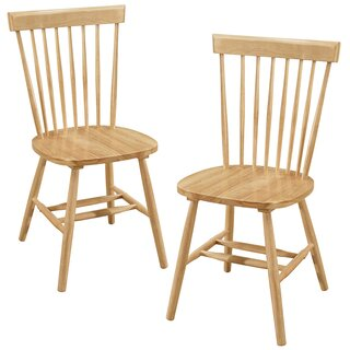 Alcide Solid Wood Dining Chair (Set of 2) by Charlton Home SKU:ED747897 Buy
