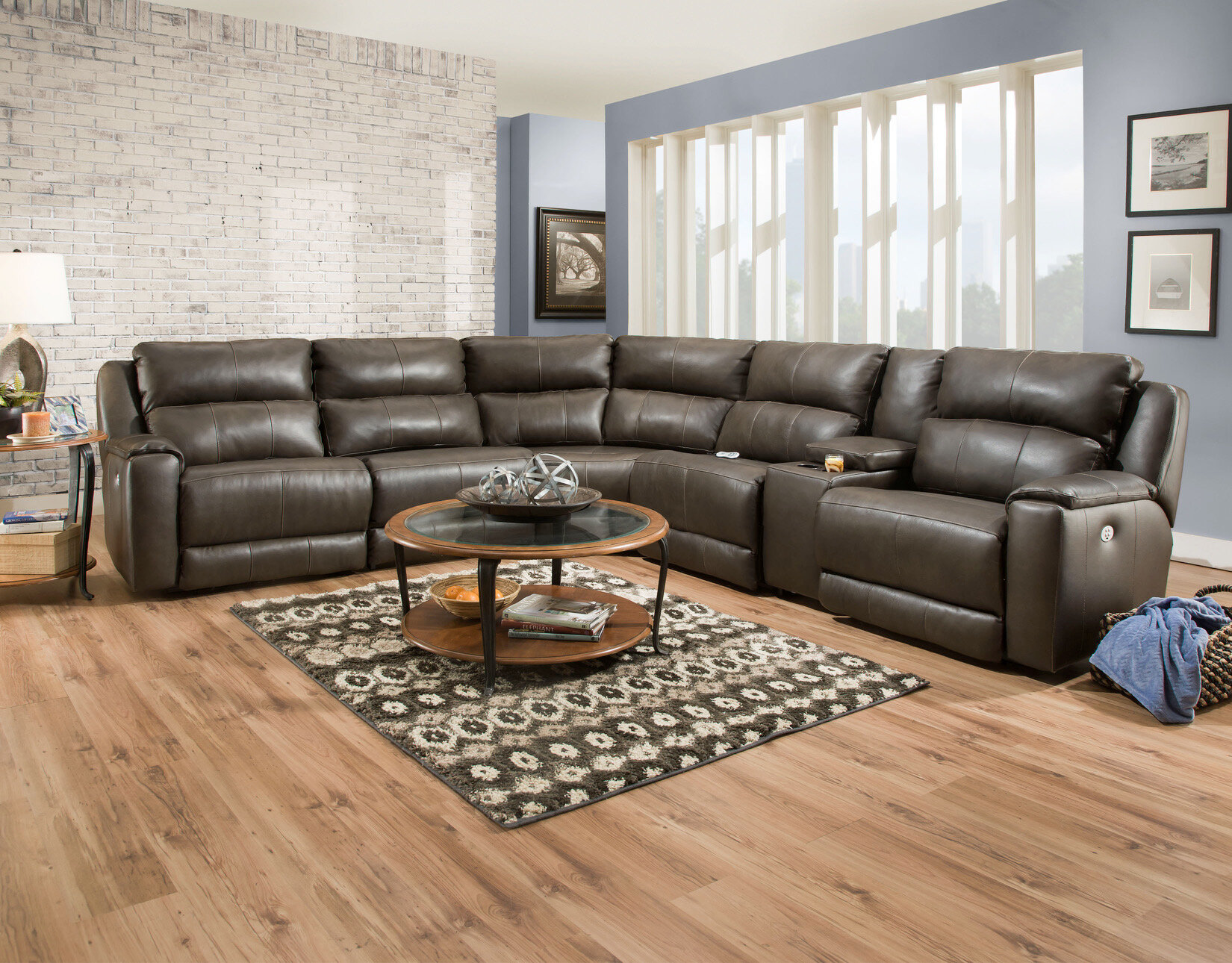 Dazzle Left Hand Facing Reclining Sectional