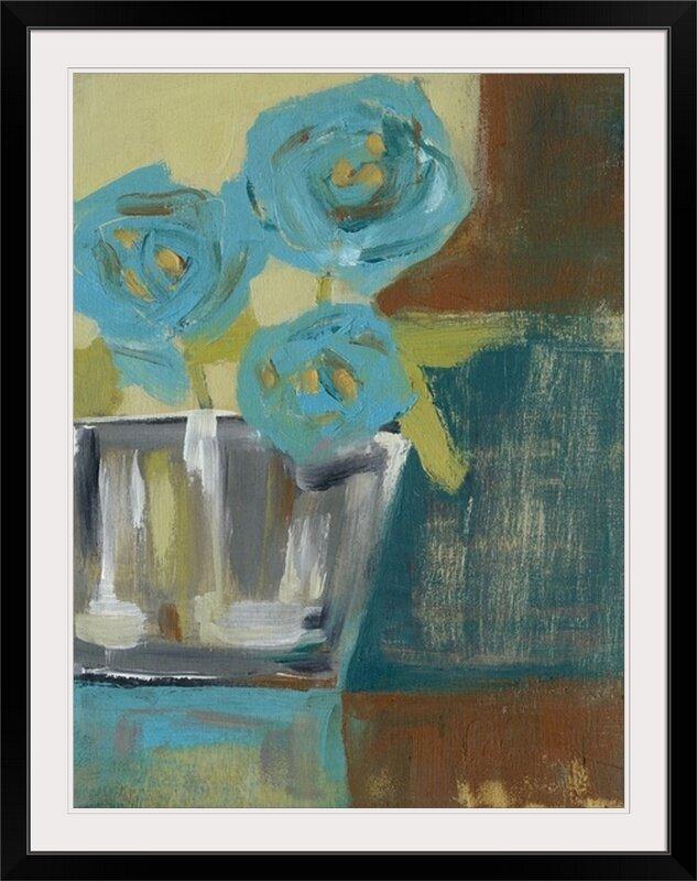Great Big Canvas Blue Bud Vase I Jennifer Goldberger Painting