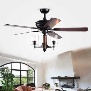 Reviews 52 Poirier 5 Blade Ceiling Fan with Remote By Gracie Oaks