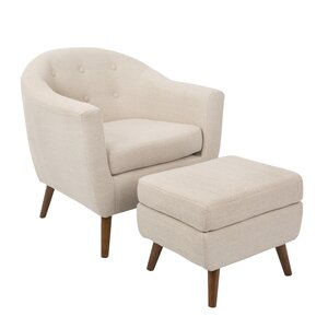 Henley Barrel Chair and Ottoman