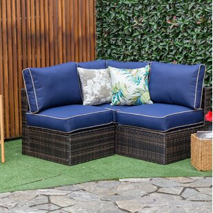 Garret Outdoor Patio Sectional with Cushions by Longshore Tides