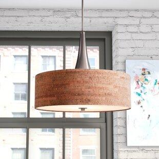 large drum pendant lighting. Haugland 3-Light Drum Pendant Large Lighting E
