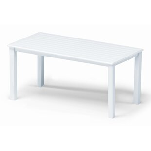 Marine Grade Polymer Tables Aluminum Coffee Table
