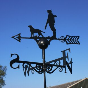 Boyle Man And Dog Weathervane By Alpen Home