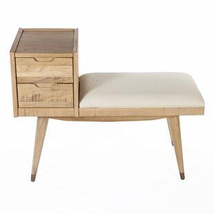 dCOR design Upholstered Storage Entry Bench