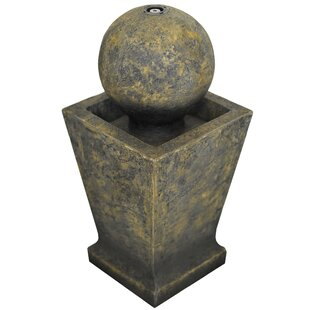 Turin Resin Sphere Fountain With Light By Sol 72 Outdoor