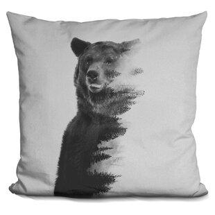 Letcher Observing Bear Throw Pillow