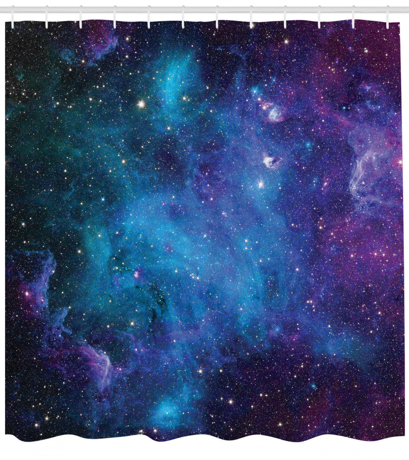 Fantasy Universe Decor Shower Curtain with Bath Rugs Black Hole in Galaxy