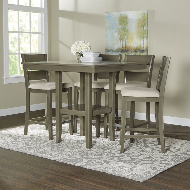 Rooms To Go Dining Sets: Birch Lane™ Brantford 5-Piece Counter-Height Dining Set