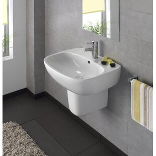 Find for Moda Ceramic 24 Wall Mount Bathroom Sink with Overflow By Bissonnet