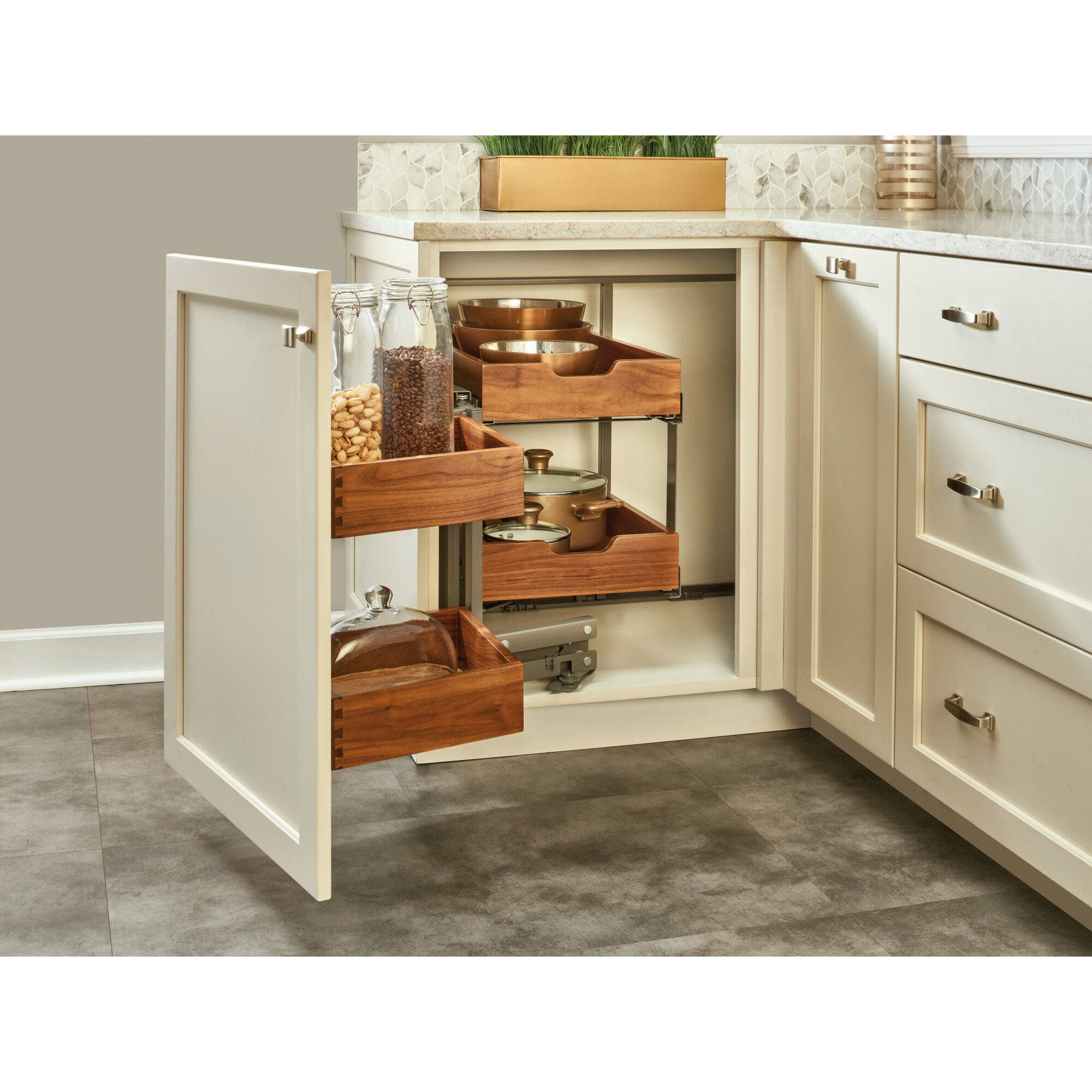 Blind Corner Cabinet Organizer Pull Out Pantry