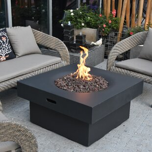 Nasir Concrete Propane Fire Pit Table By Sol 72 Outdoor
