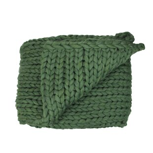 Corine Cable Knit Plush Throw