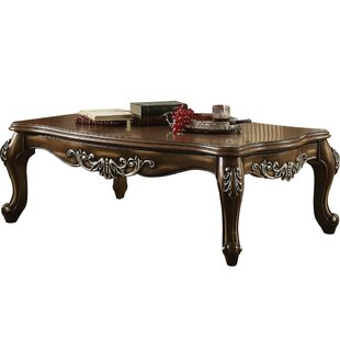 Jayla Intricately Carved Wooden Coffee Table by Astoria Grand Great price