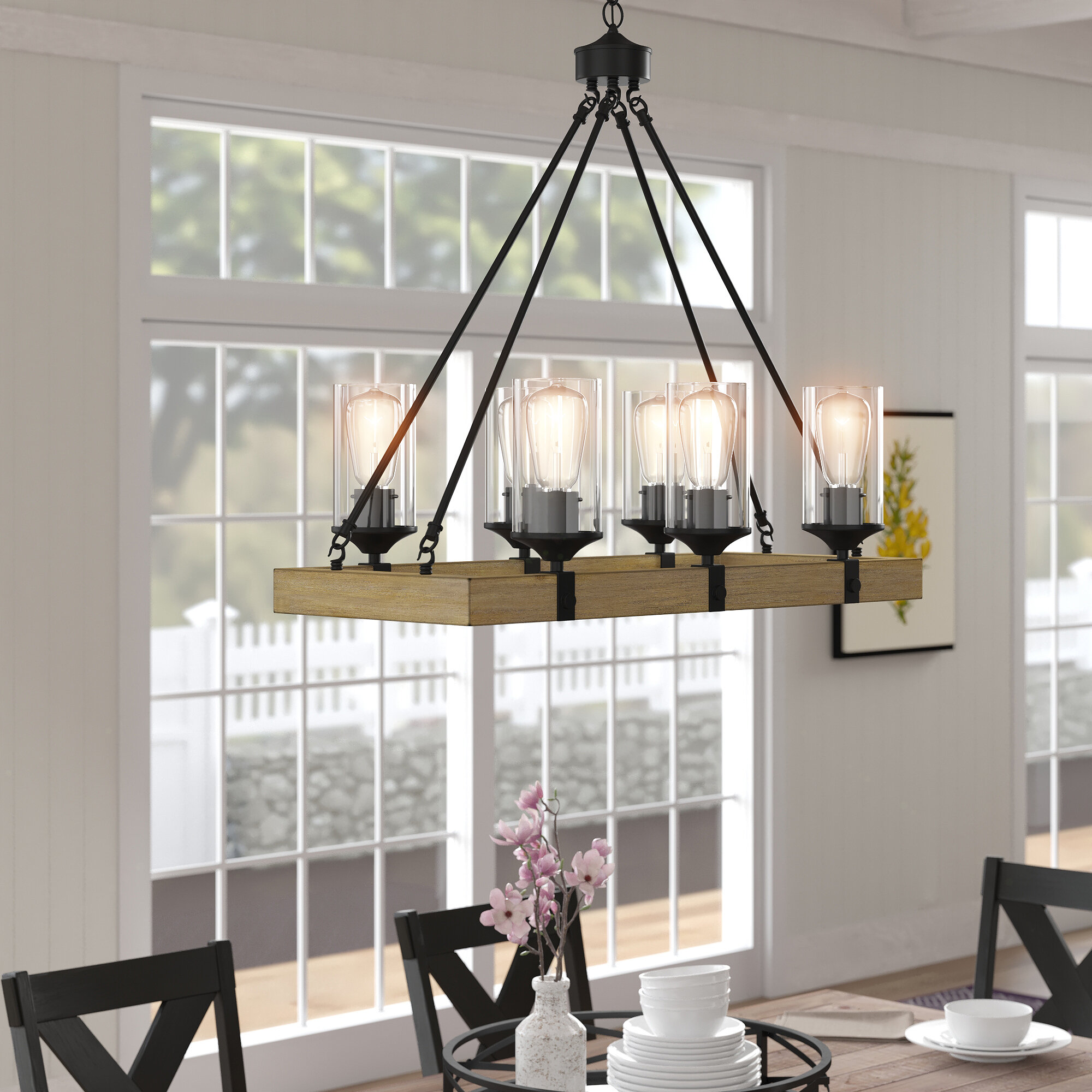 Black Finish Wrought Iron Chandeliers You Ll Love In 2020 Wayfair