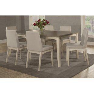 Kinsey 7 Piece Removable Leaf Dining Set Rosecliff Heights
