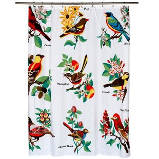 Affordable Fabric Shower Curtain with Bird Pattern (70x72) By Sweet Home Collection