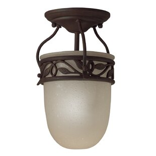 Britton 1-Light LED Semi Flush Mount by Fleur De Lis Living