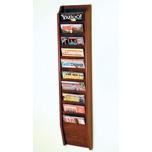 10 pocket wall mount magazine rack