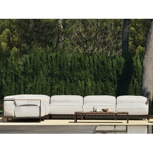 Sabo Outdoor Patio Sofa With Cushions by Brayden Studio Cheap