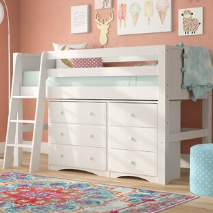 Isabelle Twin Low Loft Bed with Storage