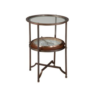 Sykes Compass End Table by Astoria Grand Wonderful