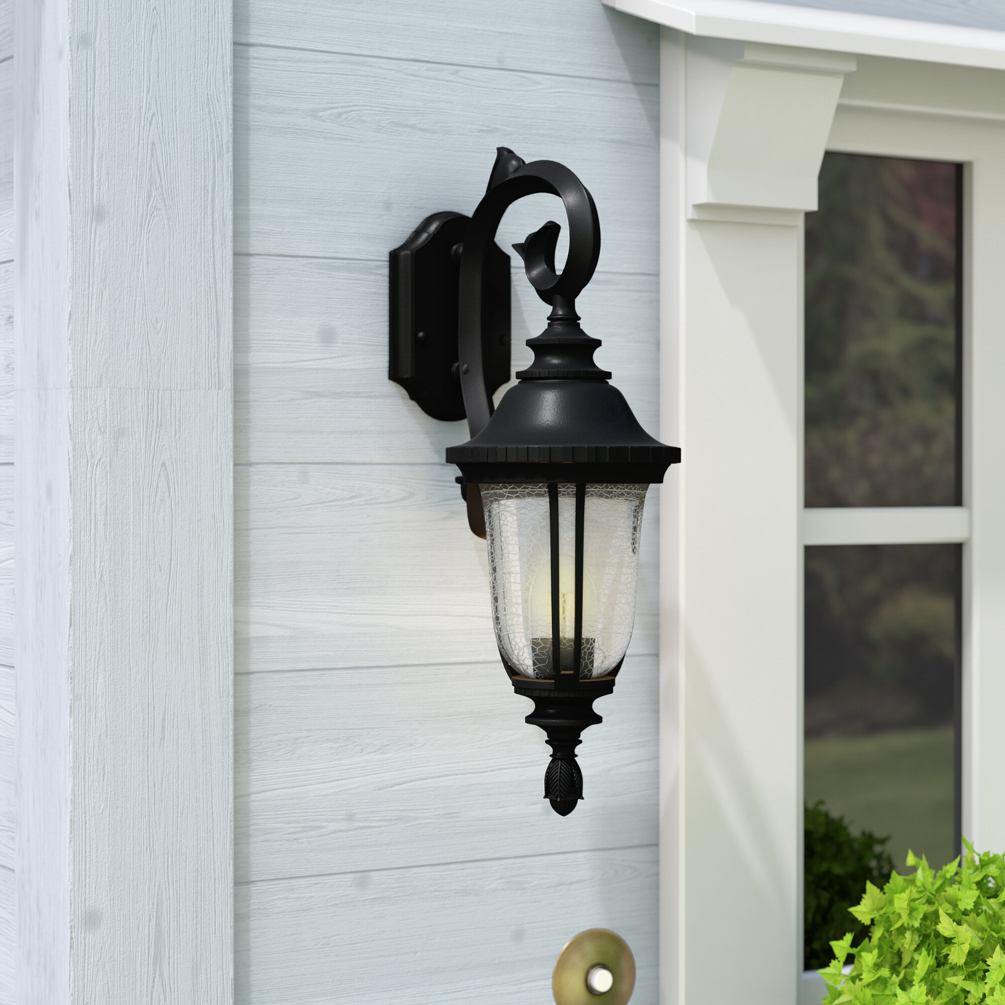 Charlton Home Weiland Outdoor Wall Lantern Reviews Wayfair