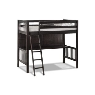 Harriet Bee Amher Loft Bed with Chair and Hanging Nightstand - Twin (Set of 5)
