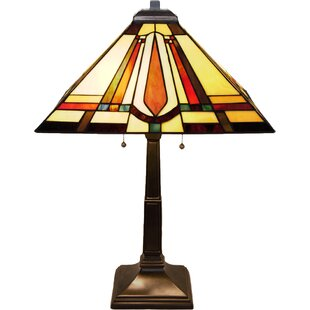Jubilee Stained Glass Mission Style 24u0027u0027 Table Lamp