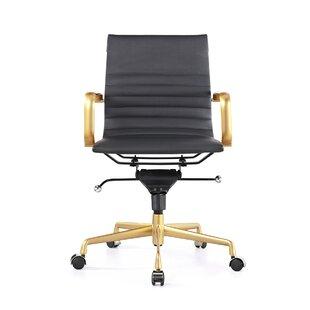 Design Lab MN Decade Classic Aluminum High-Back Desk Chair (Set of 2)