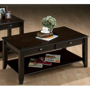 Compare Aayush Transitional Wooden Coffee Table by Charlton Home