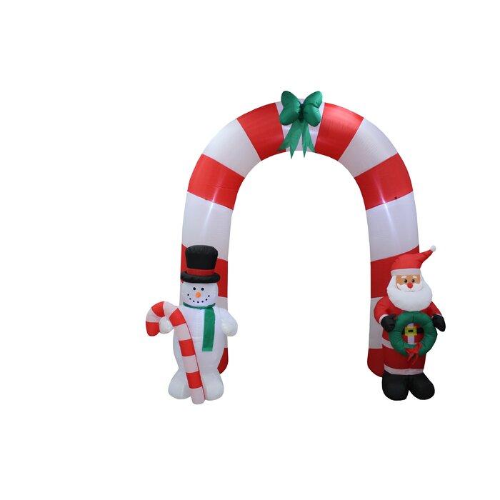 Christmas Inflatable.Santa Claus Snowman Bow Tie Arch Christmas Inflatable