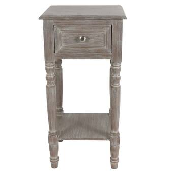 Union Rustic Hummel Wood Square Small End Table & Reviews