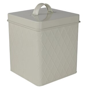 Trellis Tin Kitchen Canister by Home Basics No Copoun
