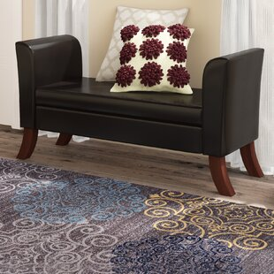 Charlton Home Byram Faux leather Storage Bench