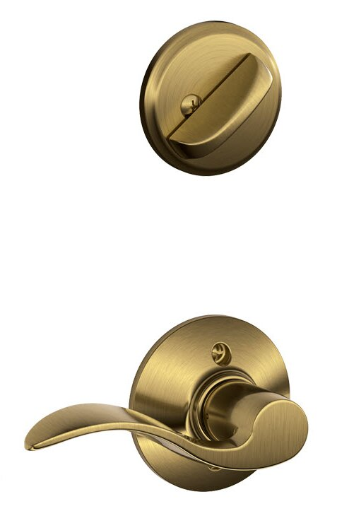 Schlage Accent Single Cylinder Interior Lever Set Exterior Portion Sold Separately Reviews Wayfair