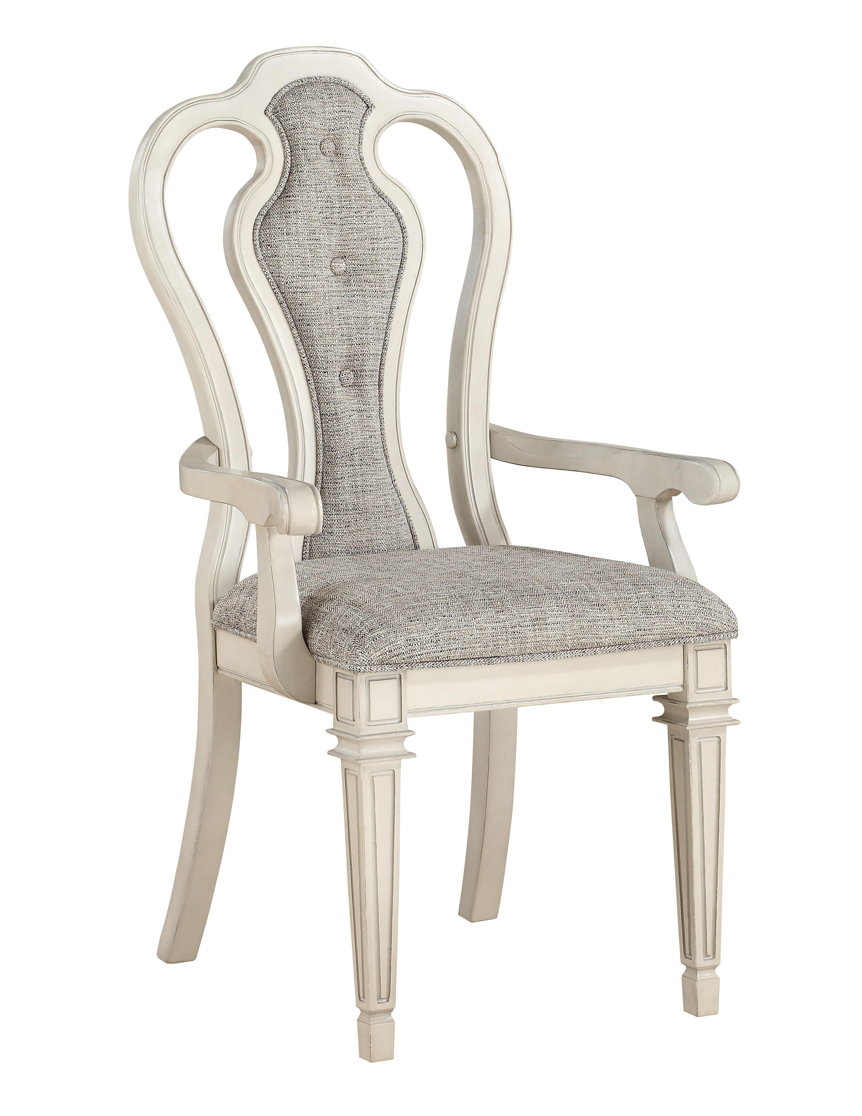 One Allium Way Hammonds Upholstered Queen Anne Back Arm Chair In Gray Wayfair