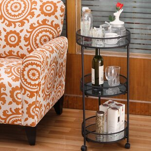 Ursula Baskets Storage Bar Cart by Gracie Oaks