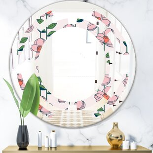 Space Floral Botanical XII Cottage Americana Wall Mirror