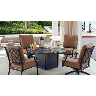 Darby Home Co Waconia 5 Piece Conversation Set with Cushions