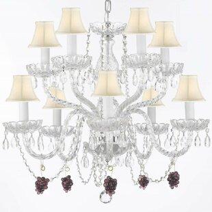 Kennett 10-Light Shaded Chandelier by House of Hampton