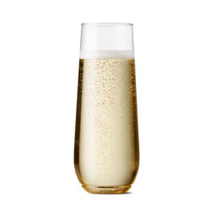Flute Plastic Disposable Wine and Champagne Glass (Set of 48)