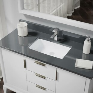 Reviews Vitreous China Rectangular Undermount Bathroom Sink with Overflow By René By Elkay