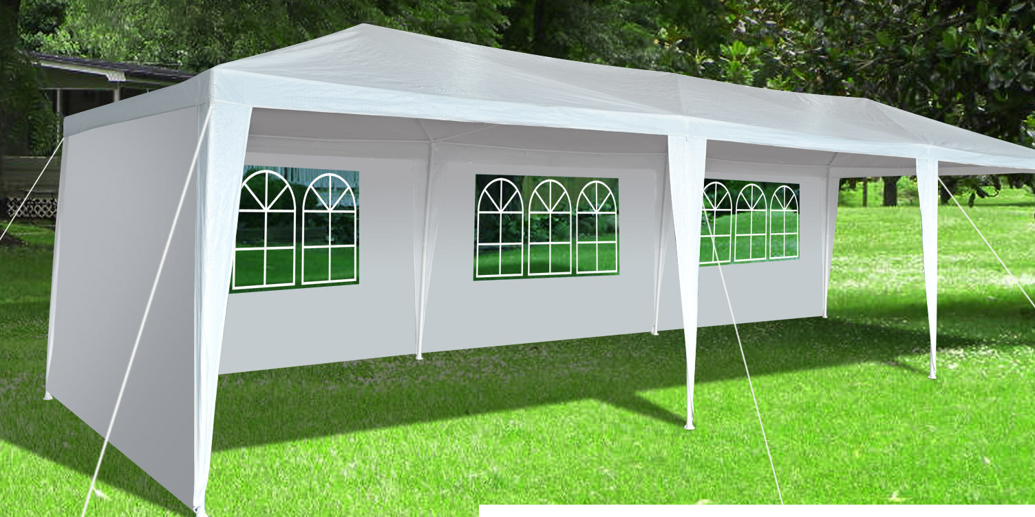 Sunriseoutdoorltd 30 Ft W X 10 Ft D Steel Party Tent Wayfair