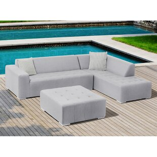 Eden 3 Piece Sunbrella Sectional Set with Cushions by Ove Decors