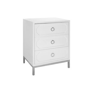 Affordable 3 Drawer End Table By Worlds Away