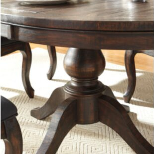 Tillie Extendable Solid Wood Dining Table by Three Posts